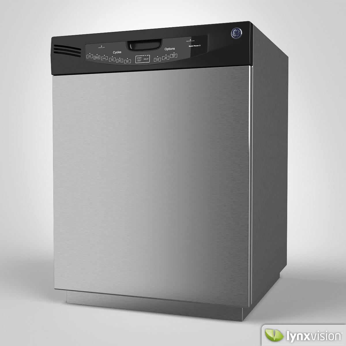 Ge Dishwasher 3d Cgtrader