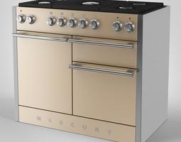 Mercury Gas Range Cooker 3D