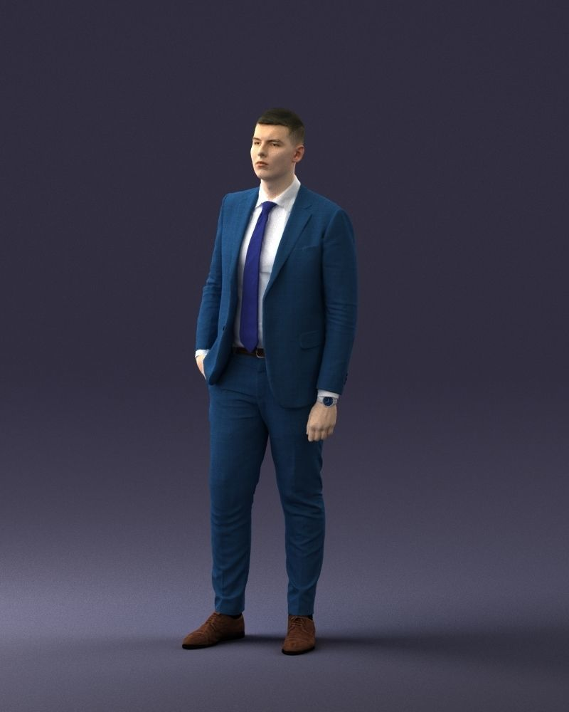 man in suit 0305 3dprint ready