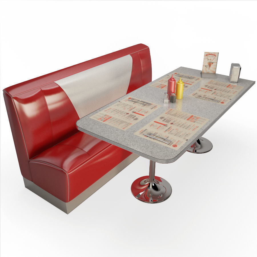 Retro American Bench and Table