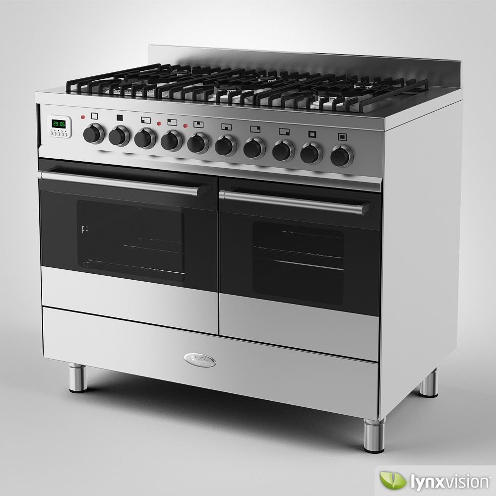 Range Cooker whirlpool gas range cooker 3d cgtrader