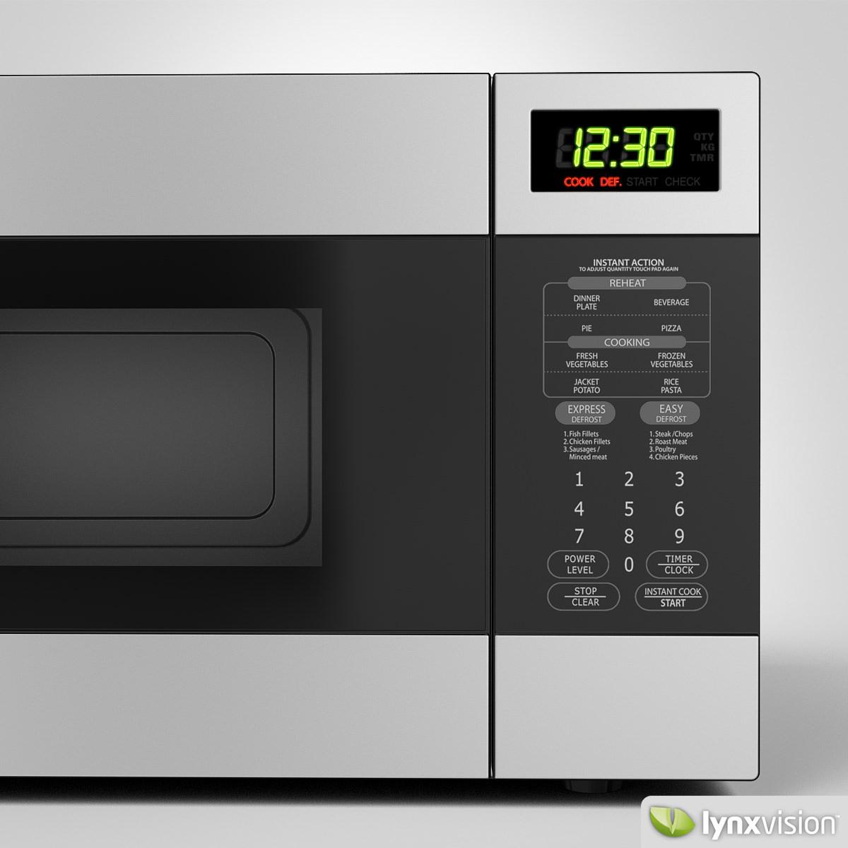 sharp microwave oven sharp microwave oven 3d model max obj fbx mtl 3