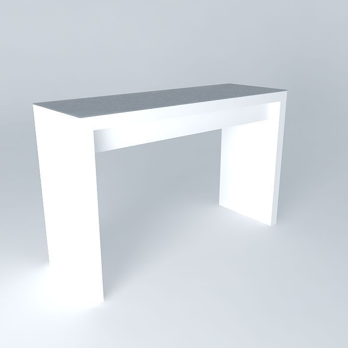 Malm dressing table white free 3d model max obj 3ds fbx stl skp cgtra - Table d appoint malm ...