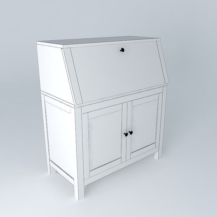hemnes bureau white free 3d model max obj 3ds fbx stl skp. Black Bedroom Furniture Sets. Home Design Ideas