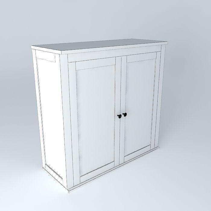 Hemnes bureau free 3d model max obj 3ds fbx stl skp for Bureau hemnes
