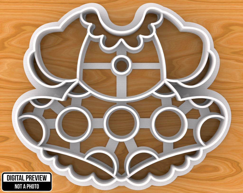 Minnie Mouse Dress Cookie Cutter