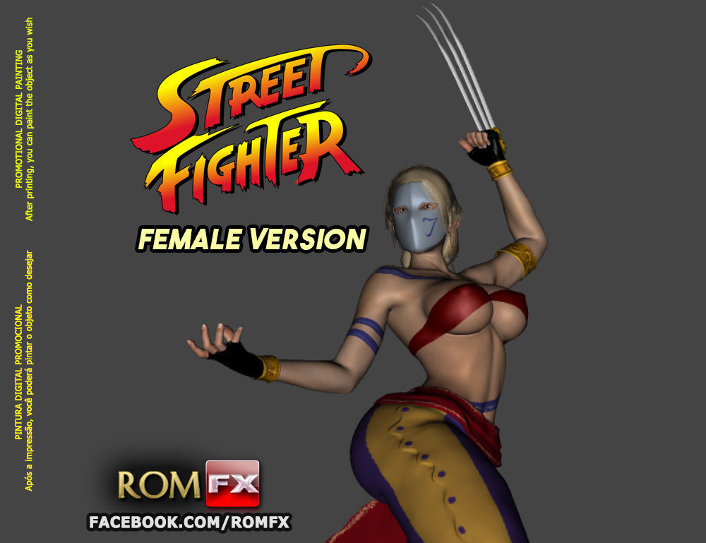 Street Fighter Vega Female Version - Printable