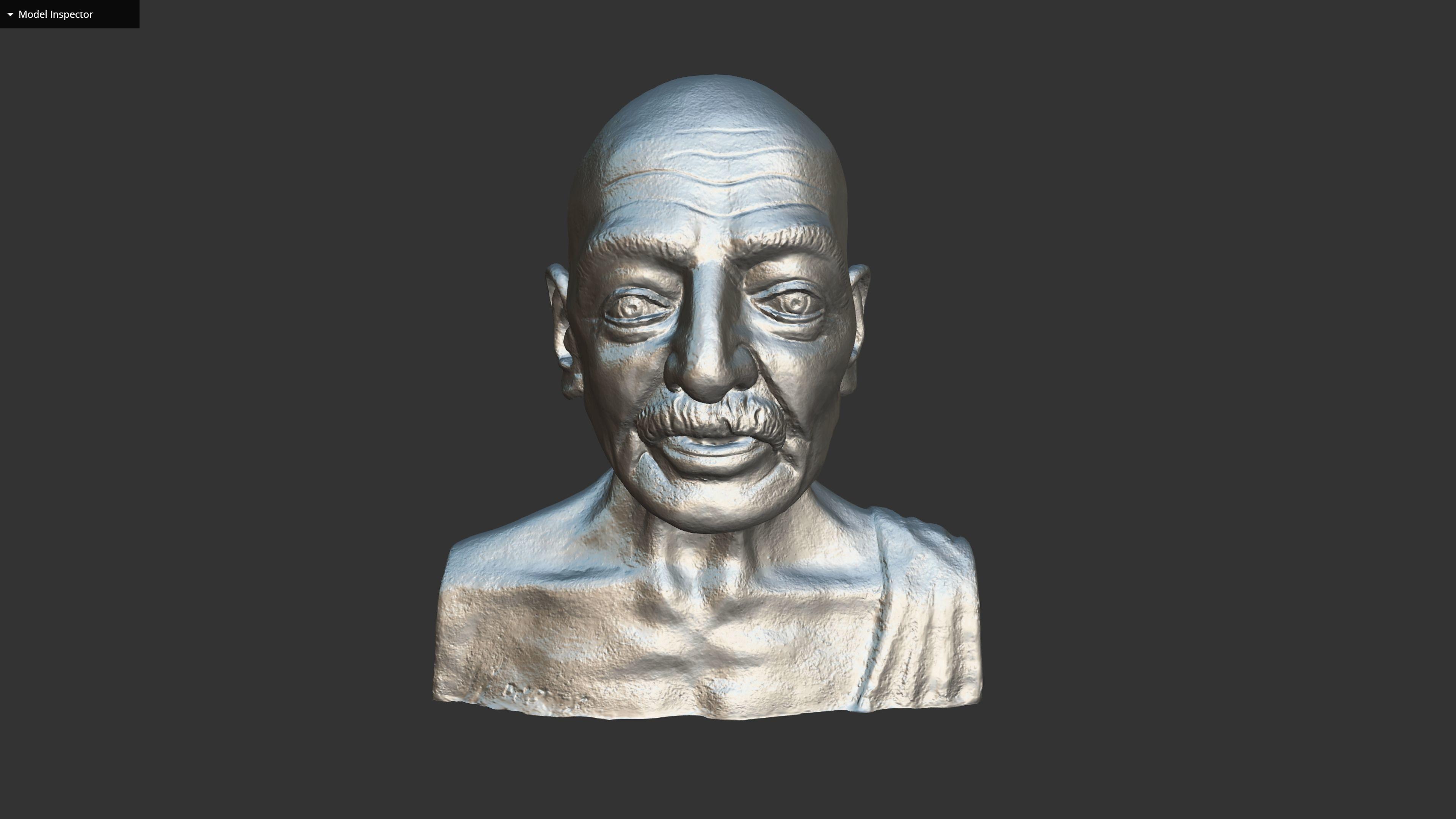 Gandhi by Enrique Garcia 3DP