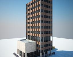 3D low poly building
