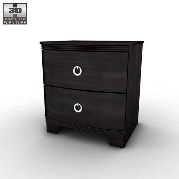 martini suite bedroom set.  3D asset Ashley Pinella Sleigh Bedroom Set CGTrader