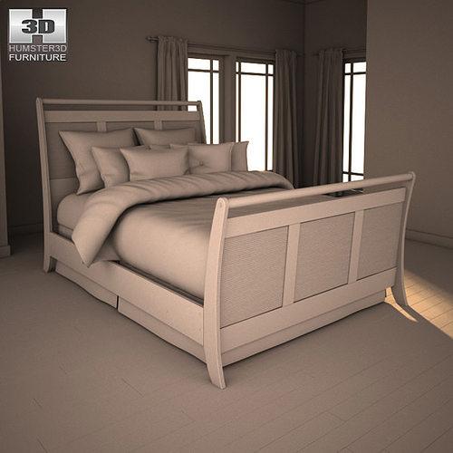 ashley pinella sleigh bedroom set 3d model max obj 3ds fbx c4d lwo lw pinella stanwick upholstered bedroom set signature design by ashley