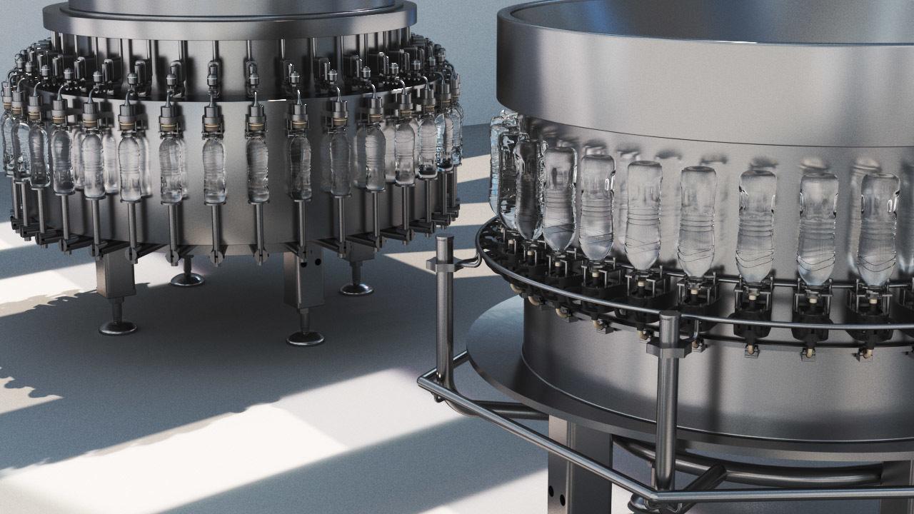 3D Pet Bottle Water Filling Machine