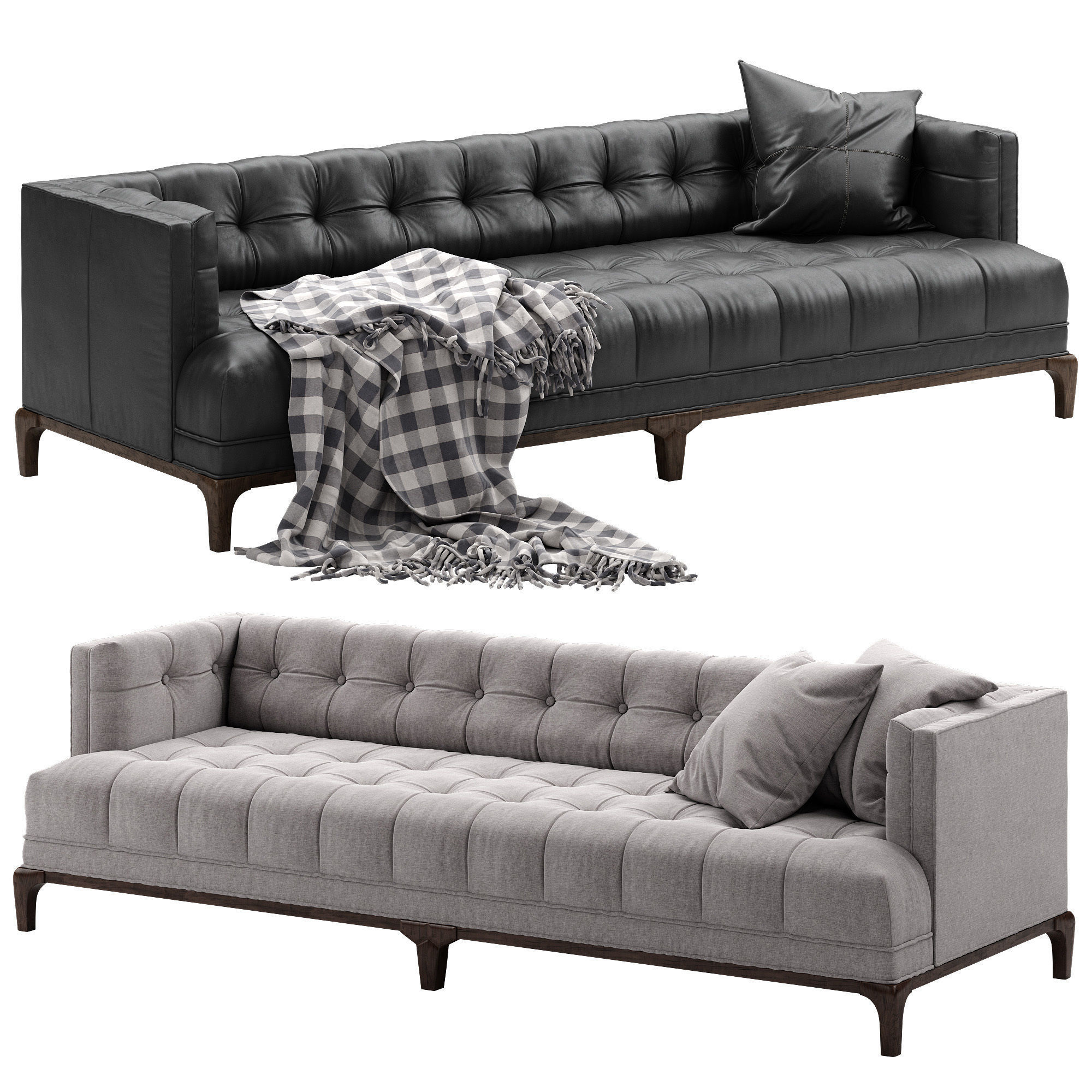 Quality Of Crate And Barrel Furniture: Crate And Barrel Dylan Sofa 3D Model