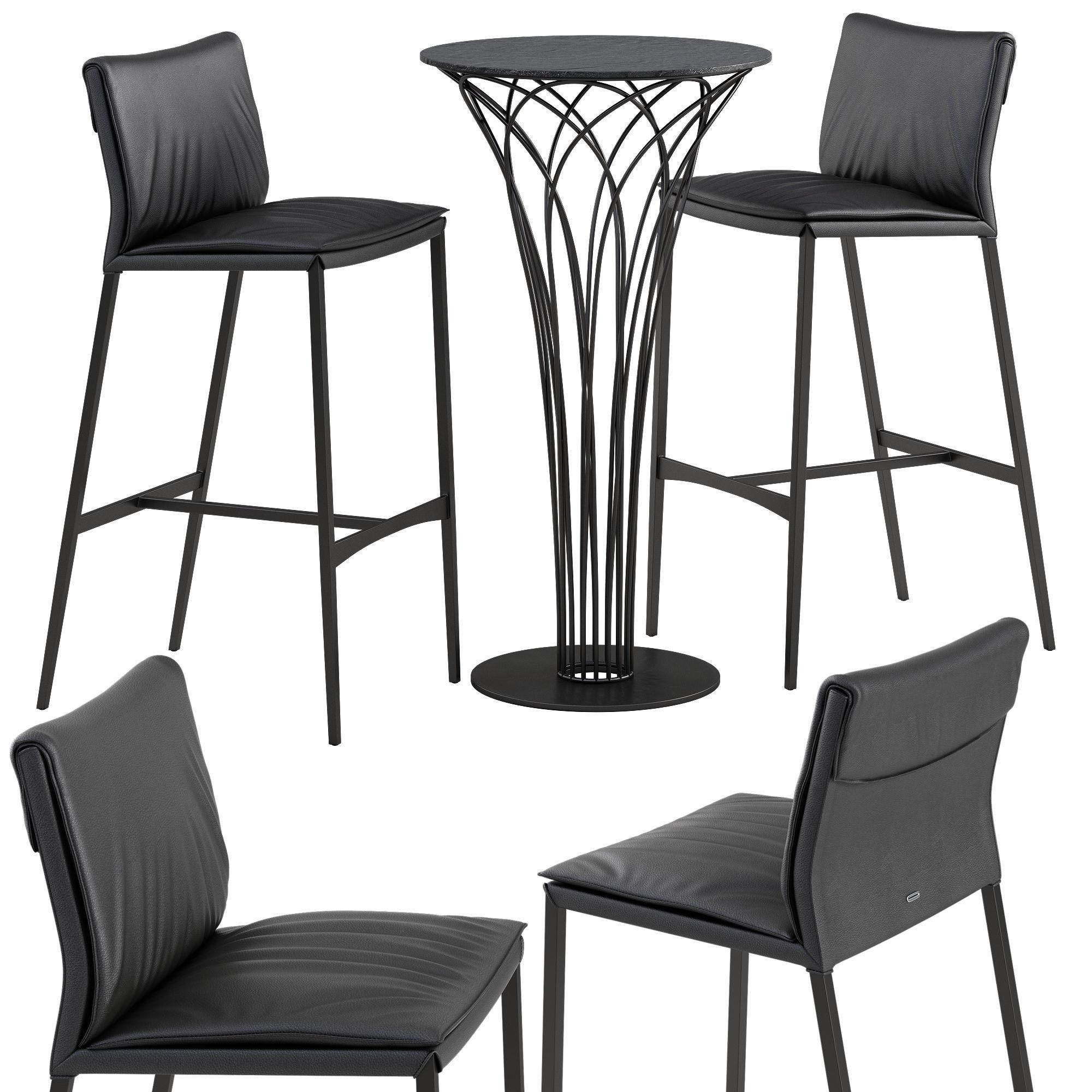 Miraculous Cattelan Italia Isabel Barstool Nido Table Set 3D Model Andrewgaddart Wooden Chair Designs For Living Room Andrewgaddartcom