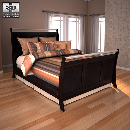 Ashley Furniture Bryant Ar Collection Collection Ashley: 3D Asset Ashley Pinella Queen Sleigh Bed