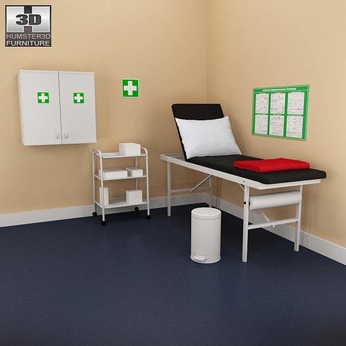 Hospital 02 Set Medical Furniture