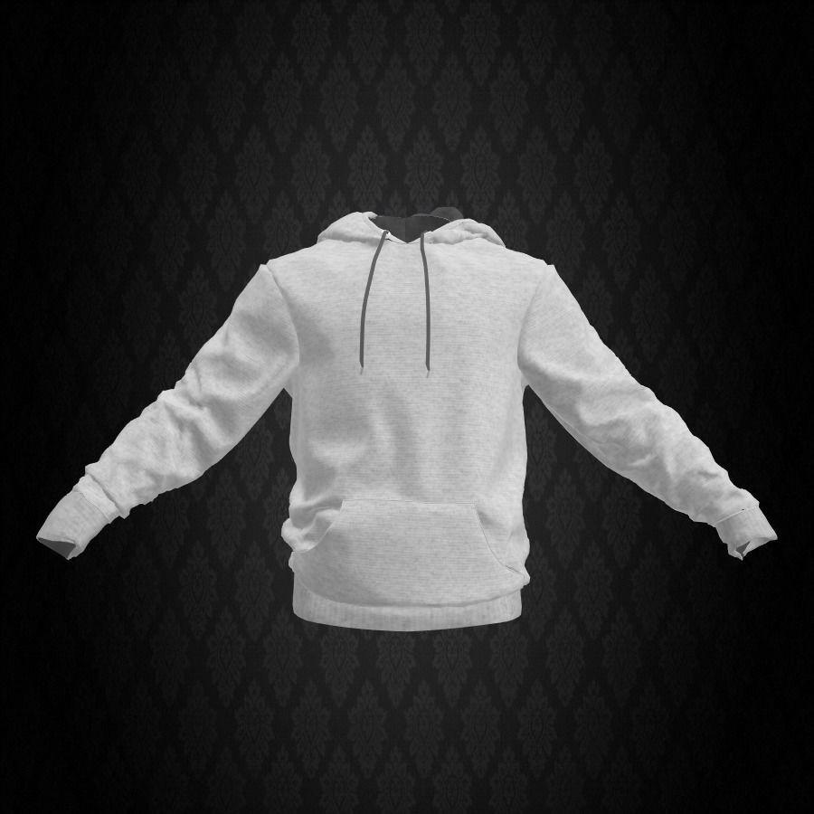White Sweatshirt with Hoodie