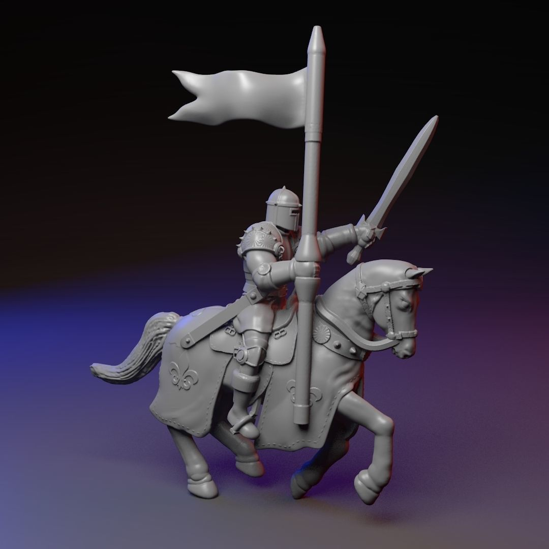 3d Print Model Mounted Knight On A Horse Cgtrader