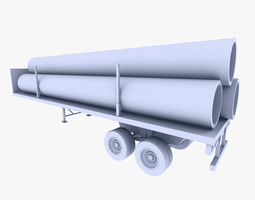 3d model realtime truck trailer 2