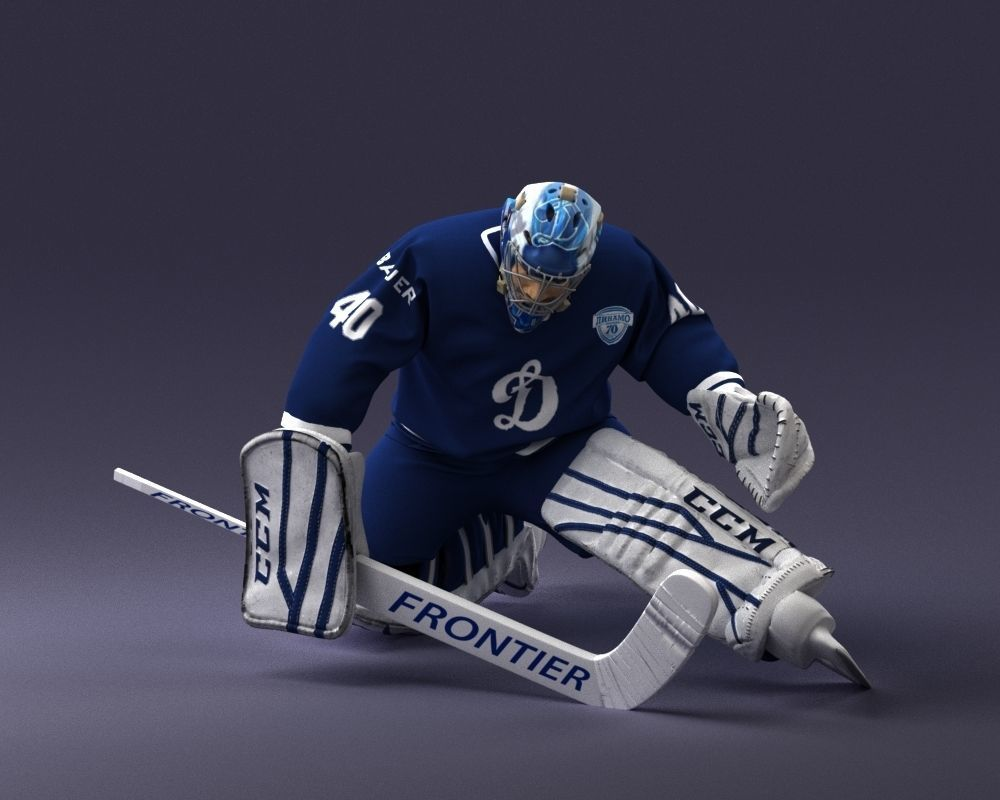 hockey goalkeeper 1007 3D print model