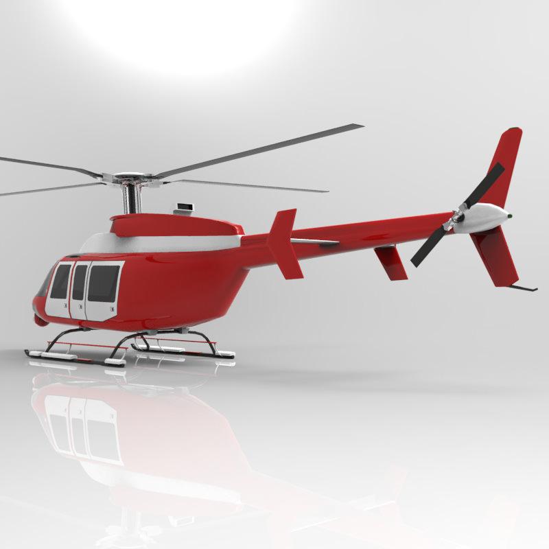 Bell 407 Jetranger 3d Model Obj Cgtrader Com