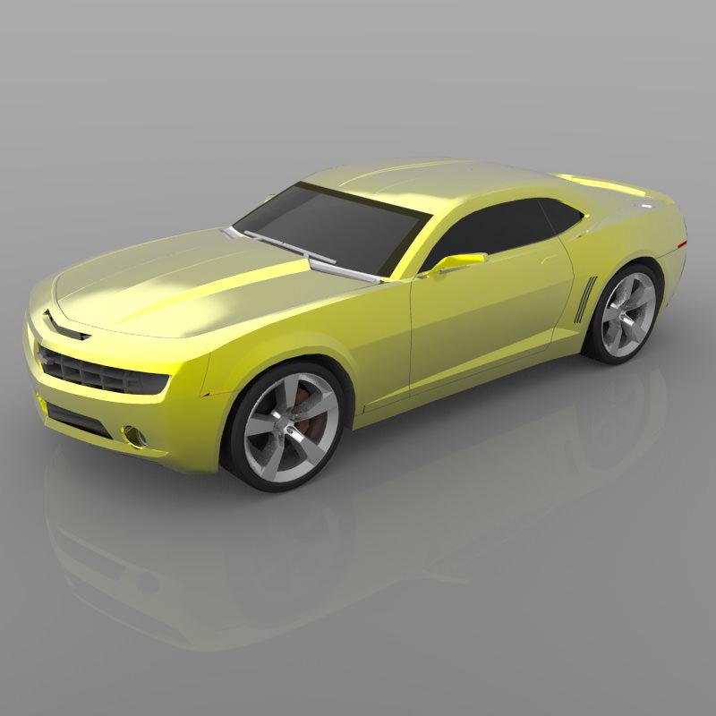 Chevrolet Camaro Concept 2006 3d Model Obj Cgtrader Com