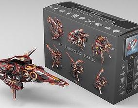 10 Drone RedManga Pack 3D asset