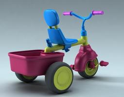 3D children bike