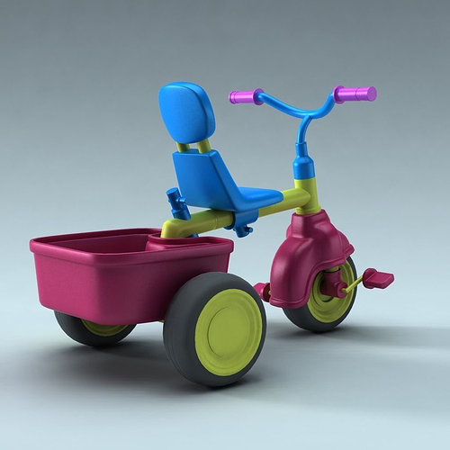 children bike 3d model obj mtl fbx ma mb 1