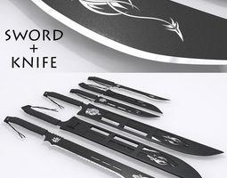 Sword and Knife 3D asset