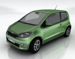 skoda citigo game-ready 3d asset