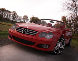 Mercedes SL500 Convertible 3D Model