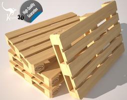 rigged 3d asset wood pallet eur epal game-ready