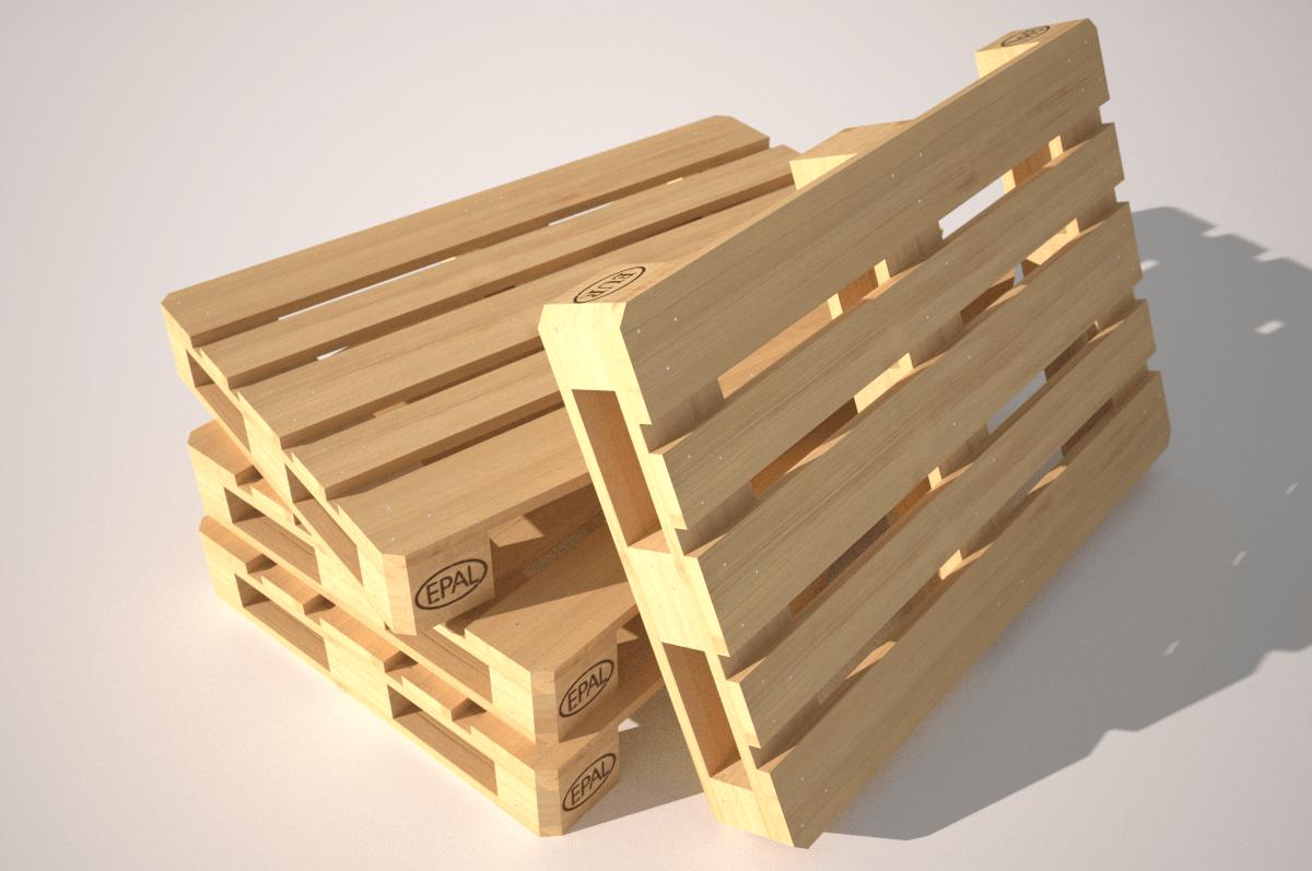 wood pallet eur epal 3d model game ready rigged obj 3ds fbx hrc xsi dae skp. Black Bedroom Furniture Sets. Home Design Ideas