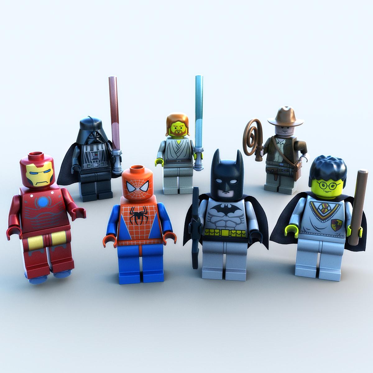 Lego Movie Toys : Lego movie figures collection d model max obj ds fbx