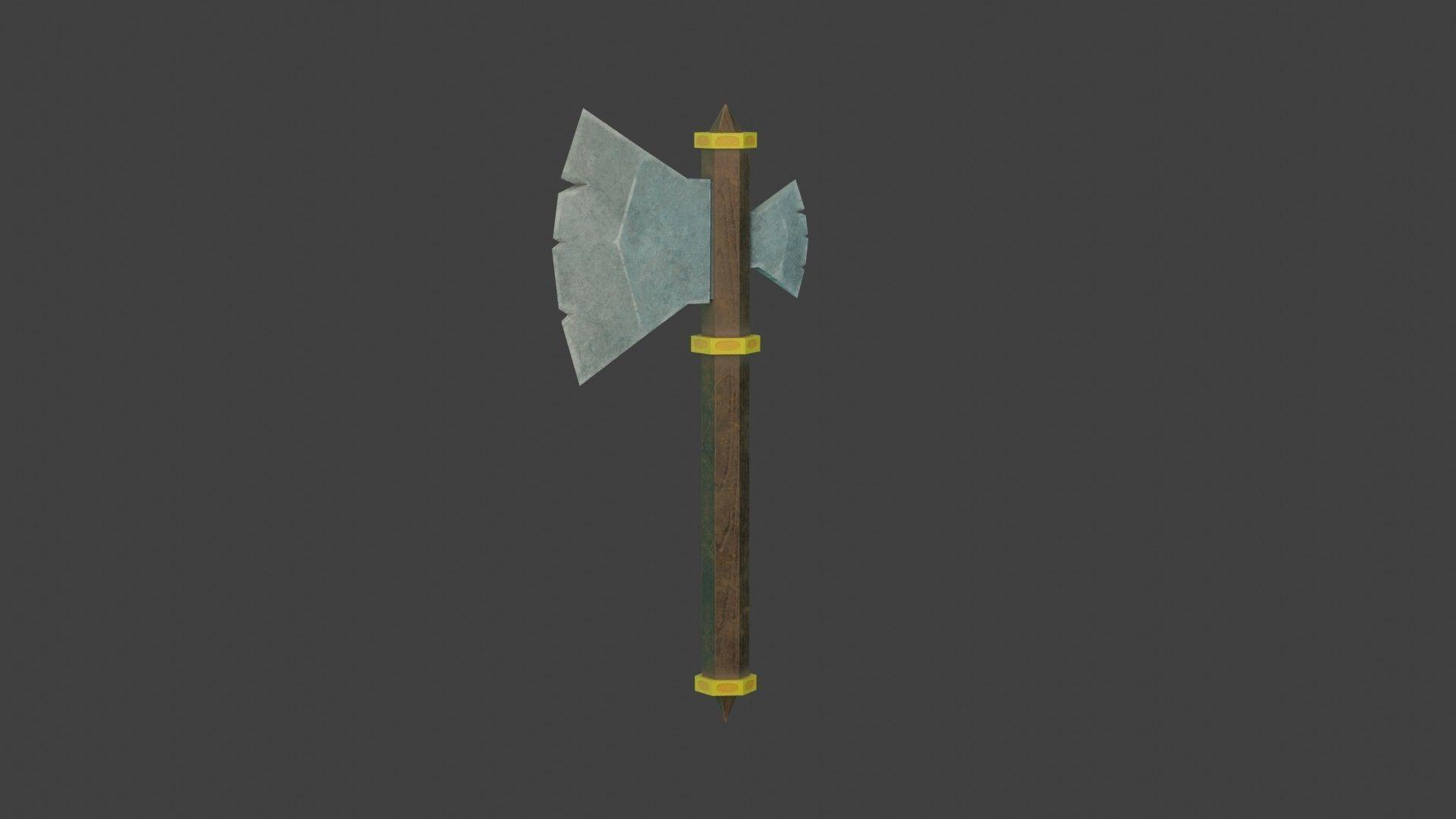 Stylized Medieval Battle Axe 2