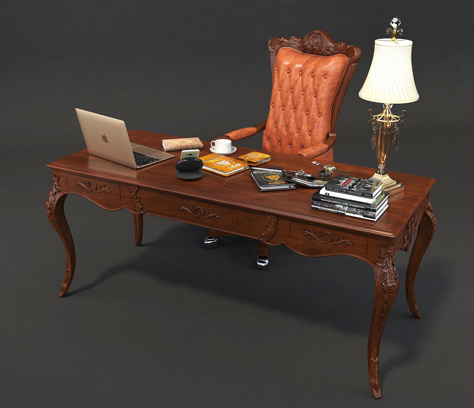 Classic Office Working Desk Set