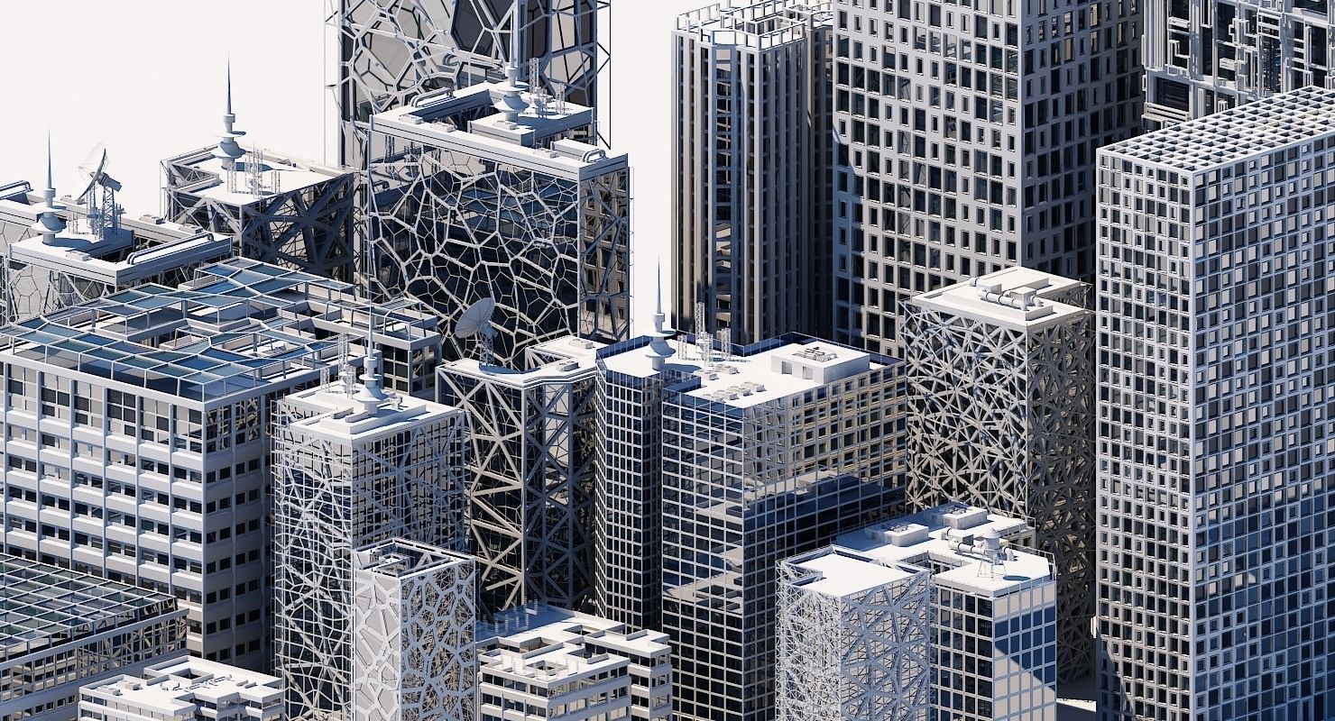 Futuristic Skyscraper Collection H 1