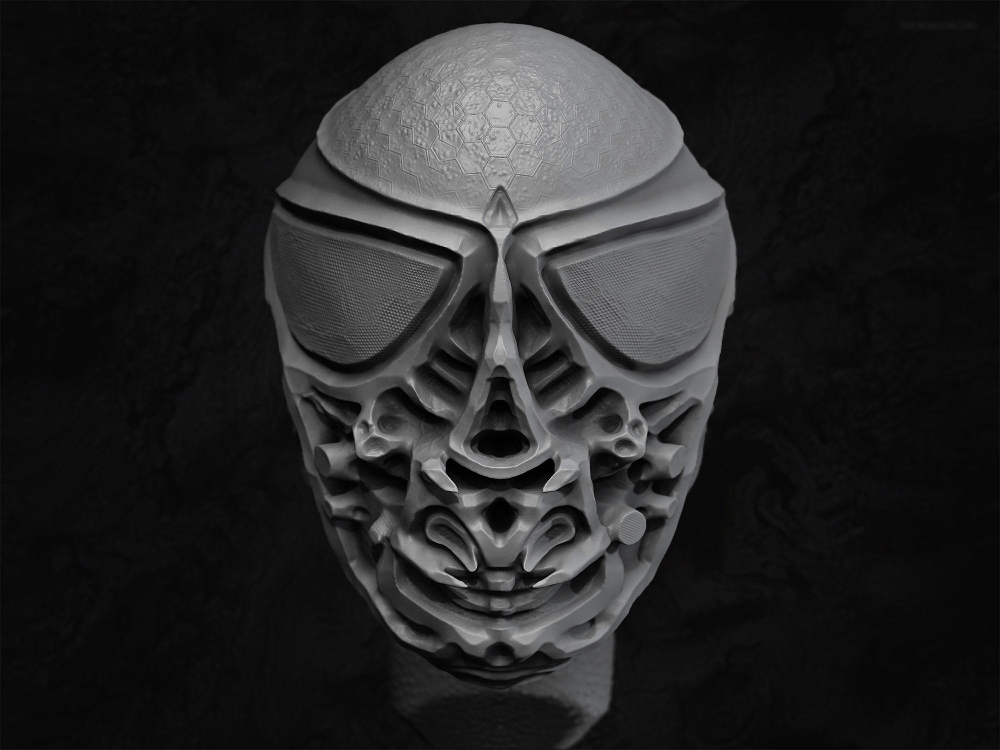 Alien Bust Model