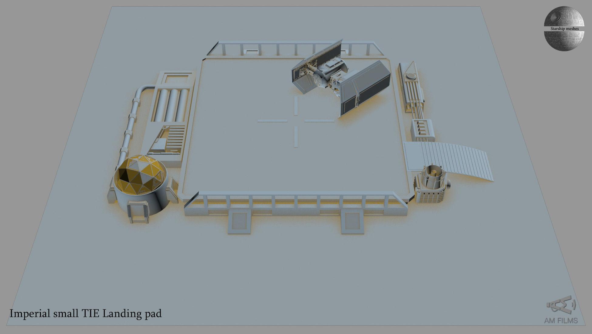 lmperial small TIE  landing pad