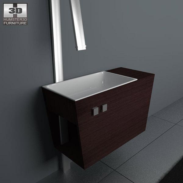 3d Model Bathroom Furniture 05 Set Vr Ar Low Poly Max Obj 3ds Fbx C4d Lwo Lw Lws