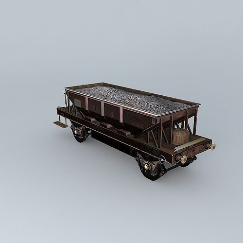 rail bulk hopper 3d model max obj mtl 3ds fbx stl skp 1