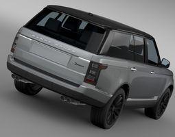 Range Rover SV Autobiography  2016 3D Model
