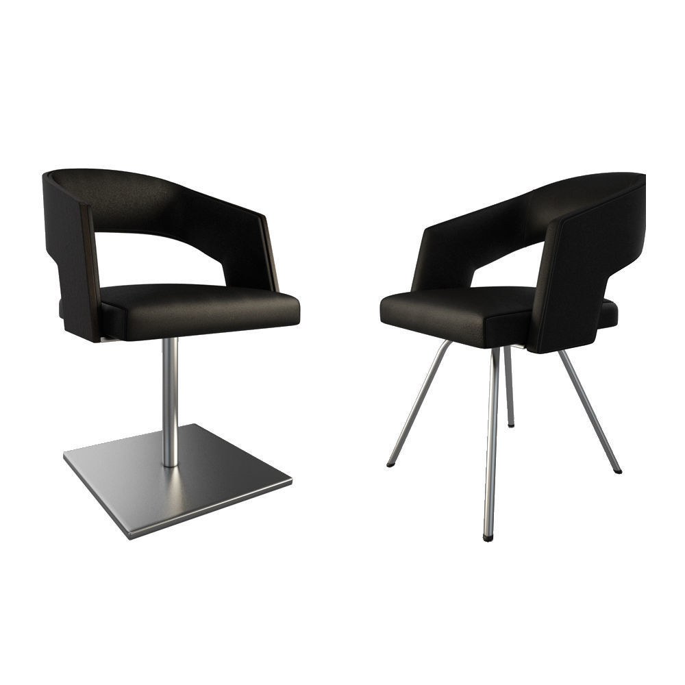 Jolly Leather Black armchairs
