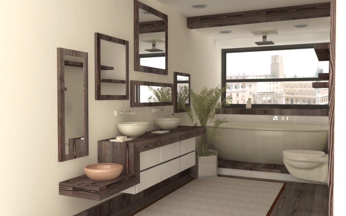 Lecce bath free 3d model max obj 3ds fbx stl skp for Design bathroom online free 3d