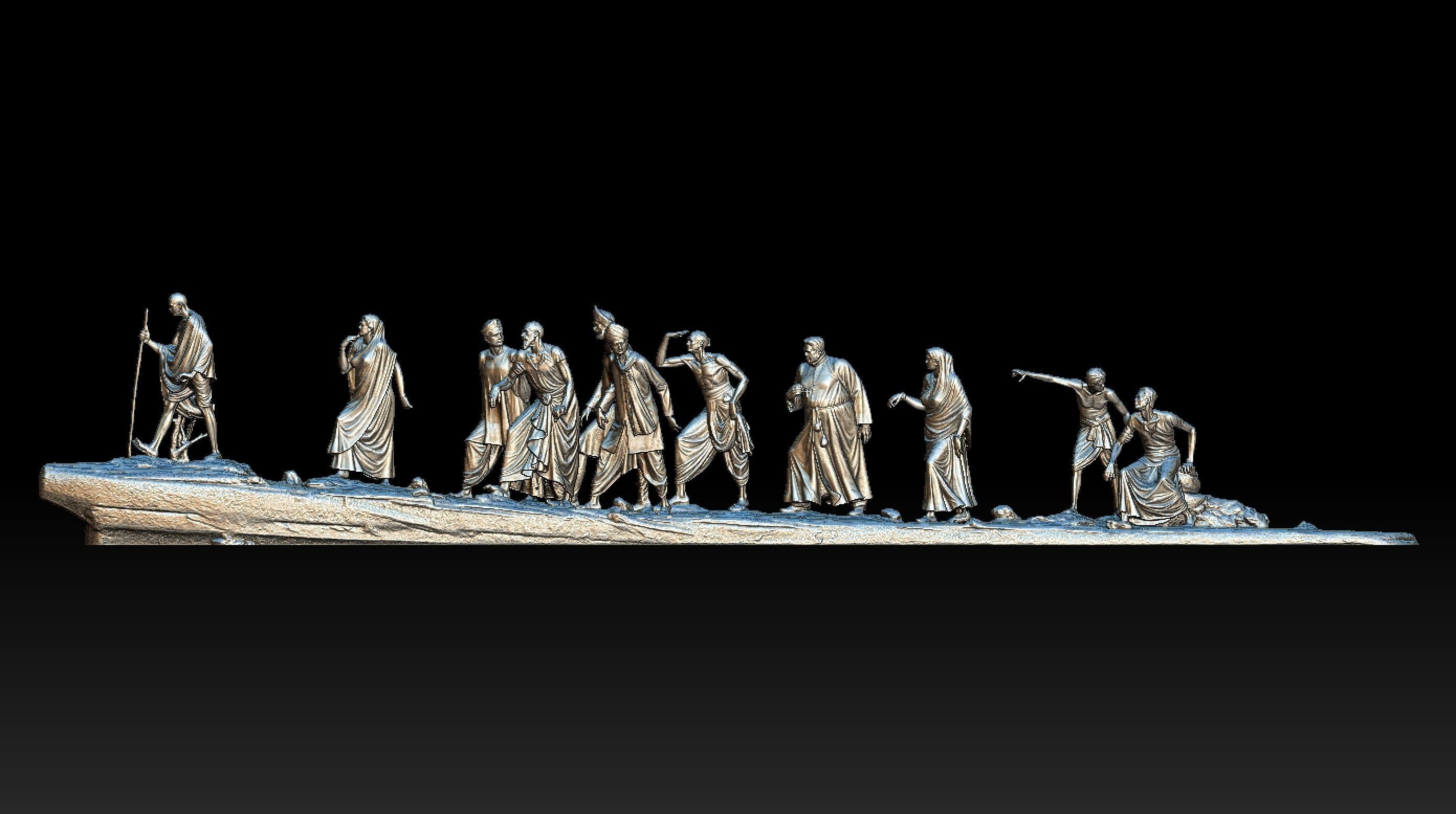 Gandhi Salt March 3DP