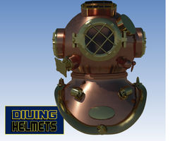 3d model us navy diving helmet markv game-ready