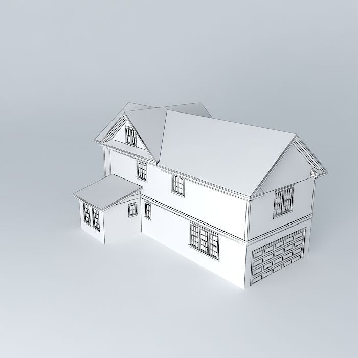 Little Townhouse Free 3d Model Max Obj 3ds Fbx Stl Skp
