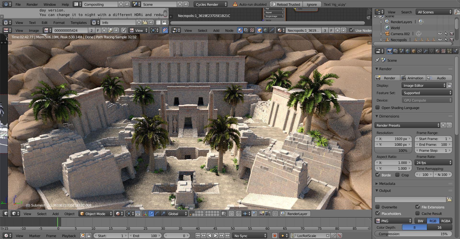 3D Blender Scene exterior map | CGTrader