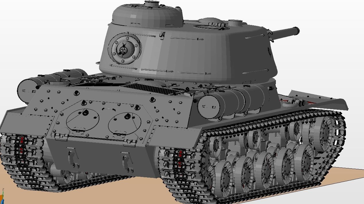 picture relating to Printable Tanks titled IS 1 Tanks 3D Print Type